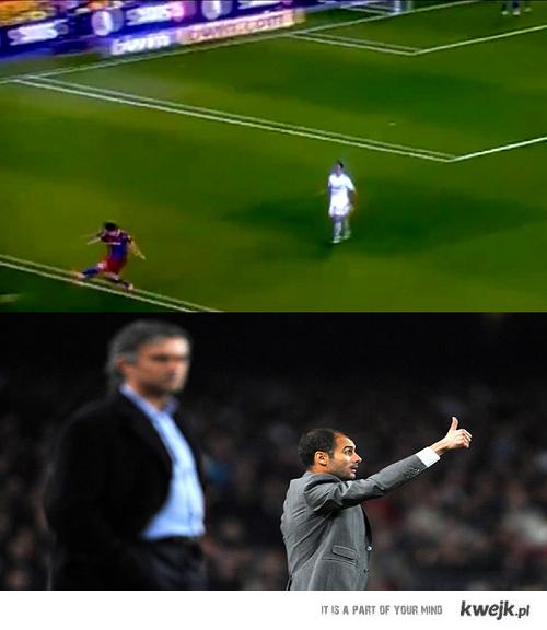 Messi kopie w kibicow z realu :D