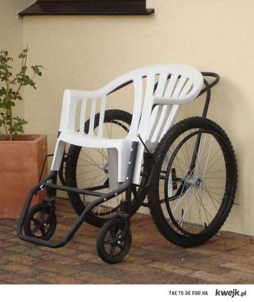 wózek inwalidzki w Afryce.