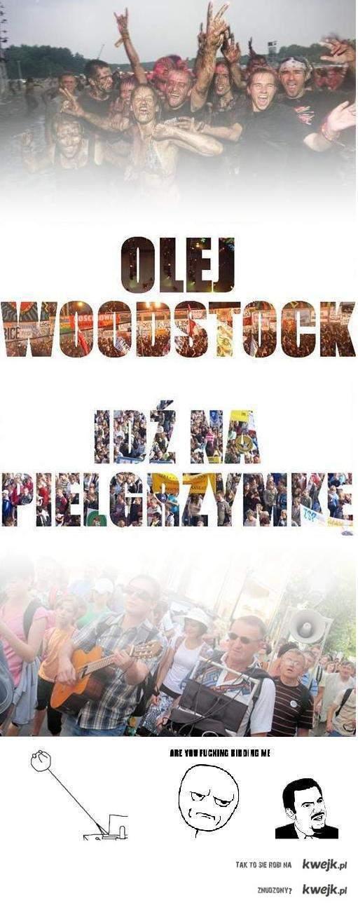 woodstock vs. pielgrzymka