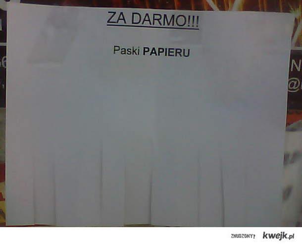 Paski papieru