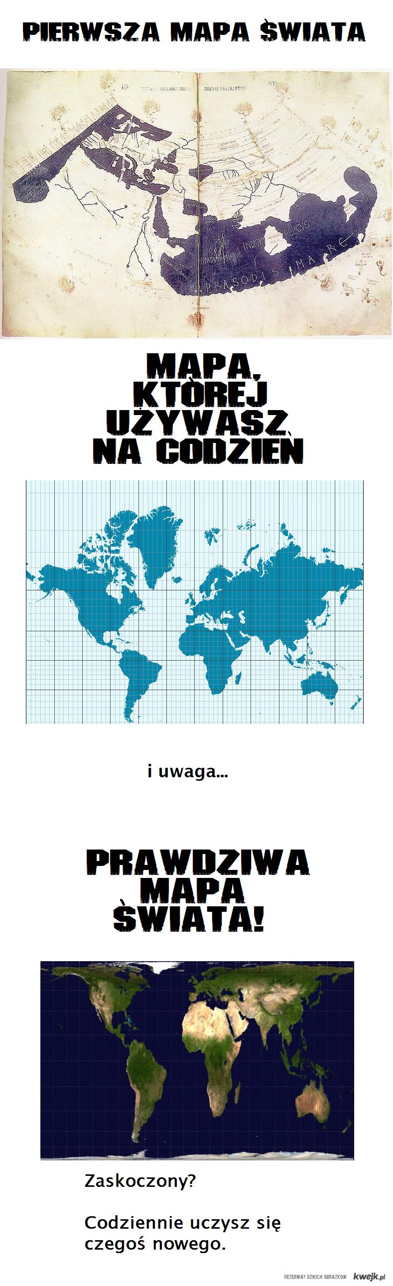 Prawdziwa mapa świata