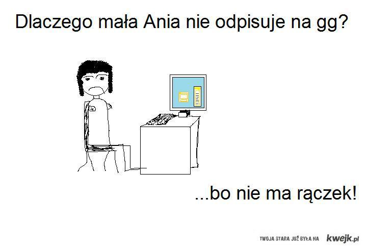 Mała Ania ma gg