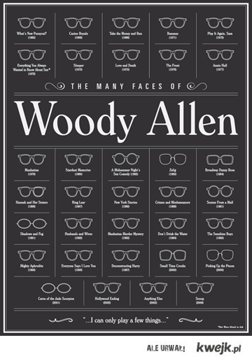 the many faces od woody allen