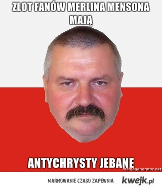 Mem odnośnie VI Ogólnopolskiego Zlotu Fanów Marilyn Manson