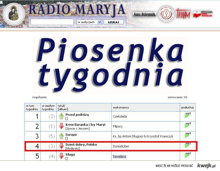 Piosenka tygodnia w radiu maryja ;)