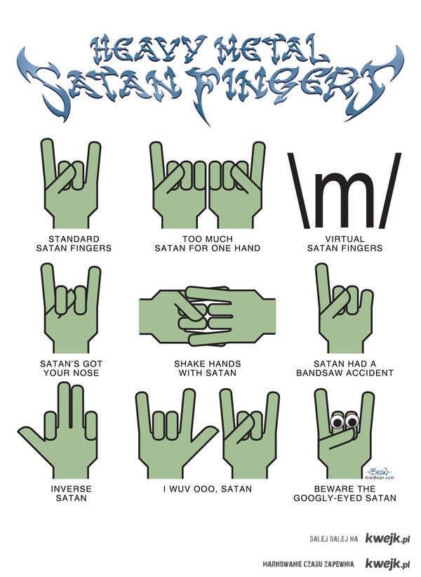 heavy metal satan fingers xd