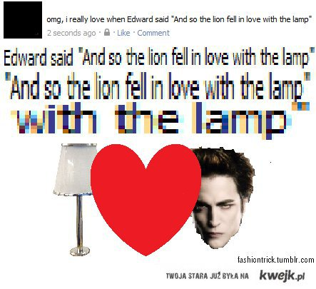 fell in love with the lamp