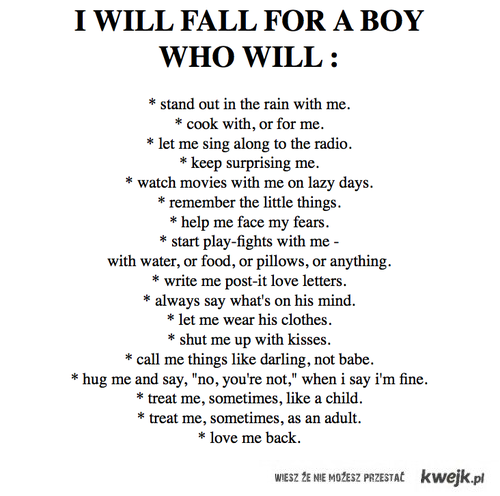 i will fall for a boy who will