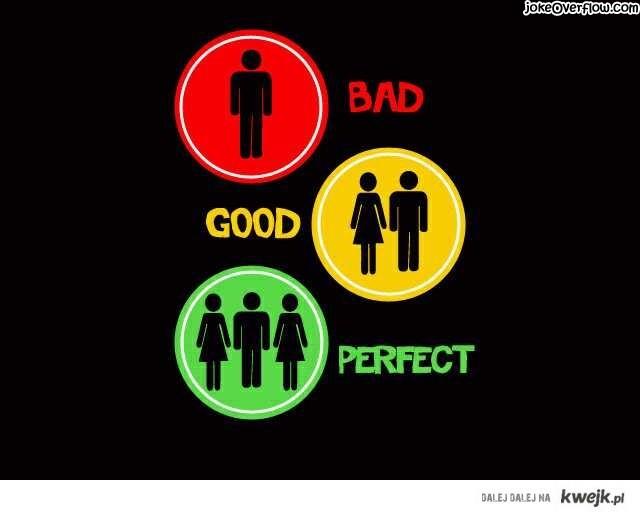 bad, good, perfect