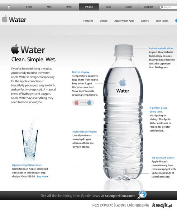 Gdyby Apple wymyśliło wodę...