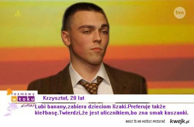Krzysztof, lat 20