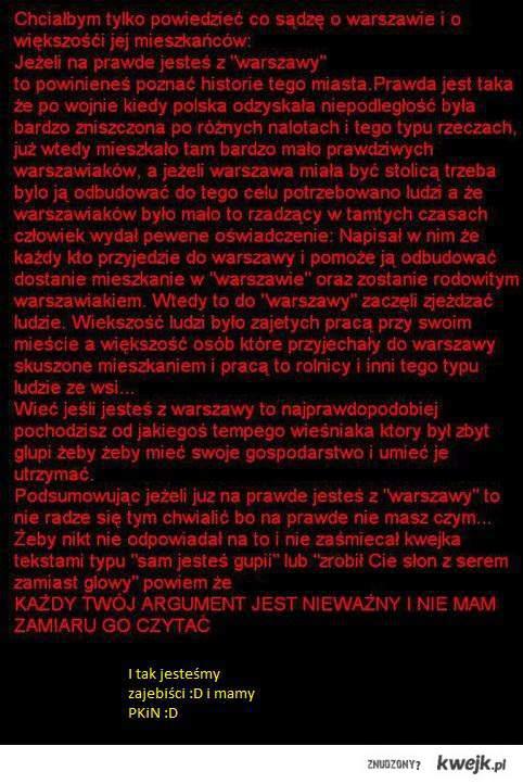 Brak Warszawy brak opisu hłe hłe