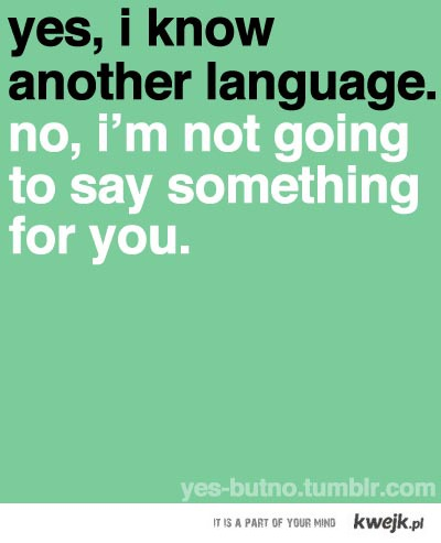 language you don't know