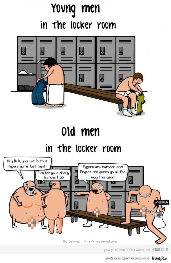 Mężczyźni w szatni