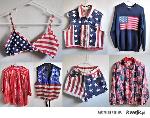 USA flag pattern clothes