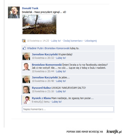 Smoleńsk na facebooku