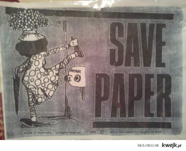 oszczędzaj papier