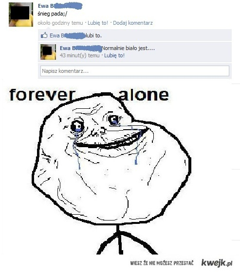 Forever alone wersja fb