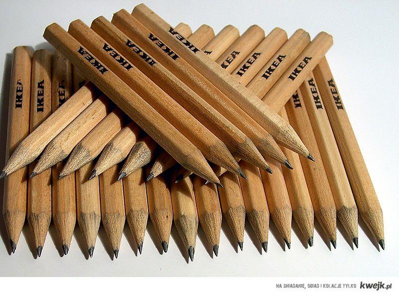 ołówki z Ikei - ty też brałeś ich najwięcej?