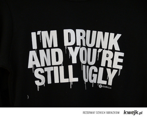 You aren't pretty even when I'm drunk