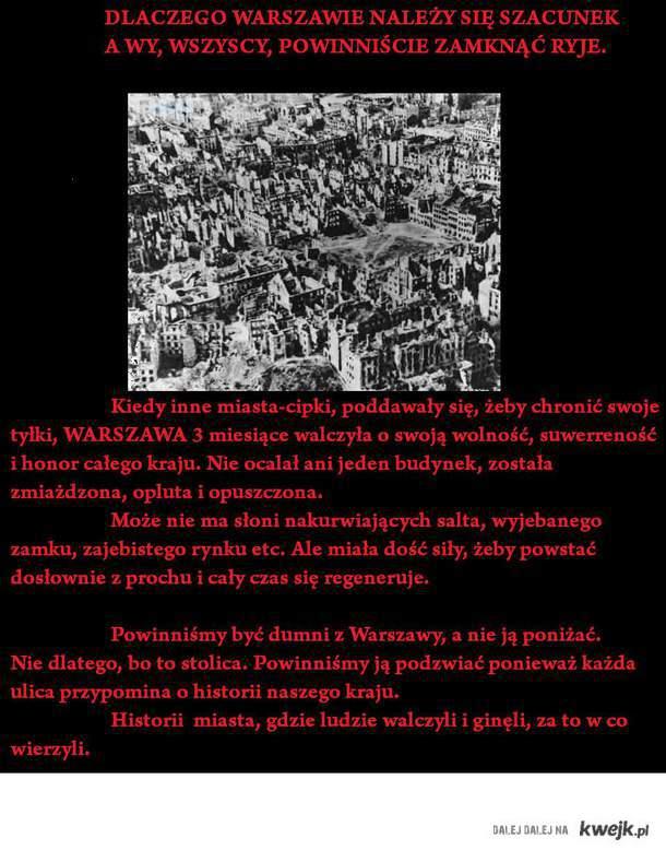 szacunek dla Warszawy