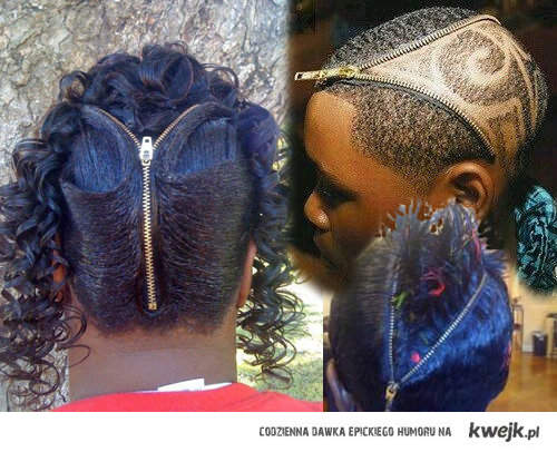zipper hair