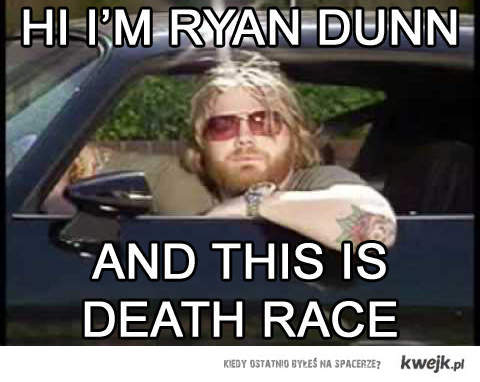 Ryan Dunn - death race