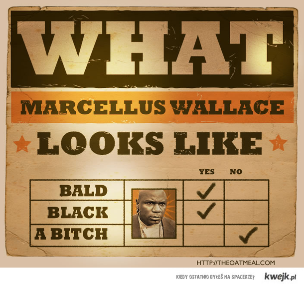 What does Marcellus Wallace looks like?