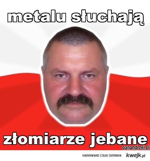 metalu słuchają złomiarze