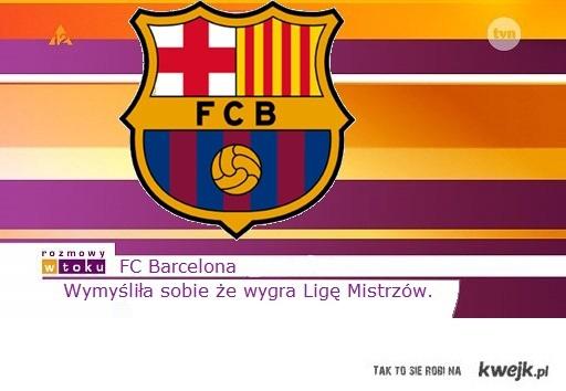 Barca nie wygra Ligi Mistrzów