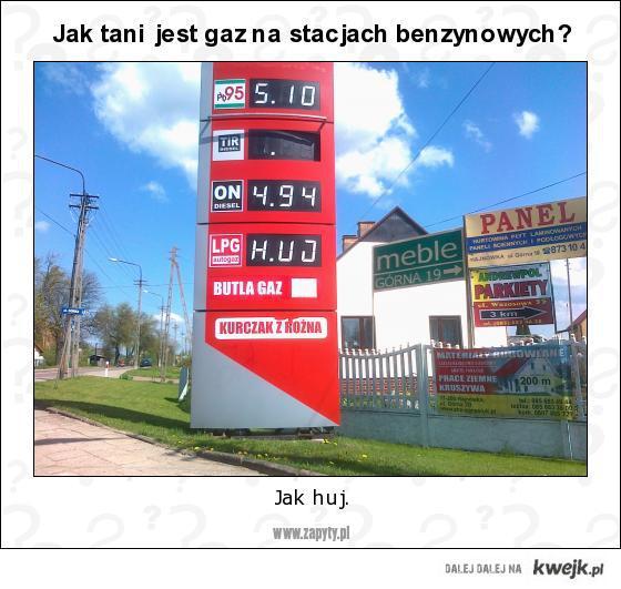 Jak tani jest gaz na stacjach benzynowych?