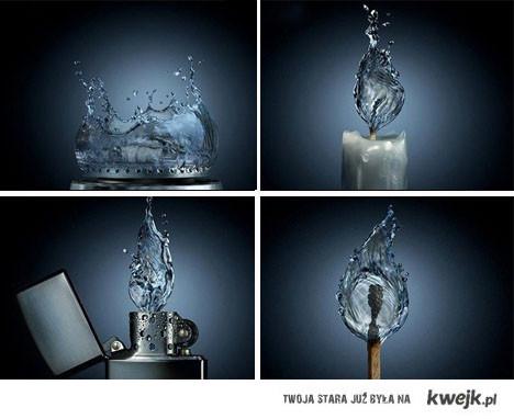 woda ogień