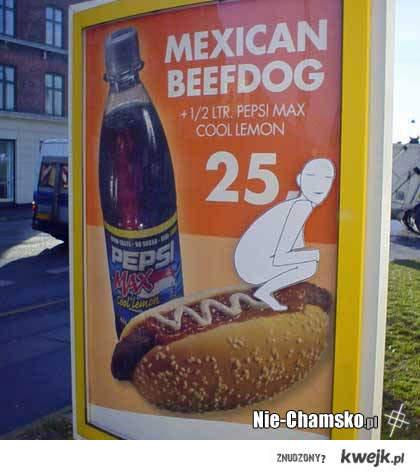 Reklama hot-doga