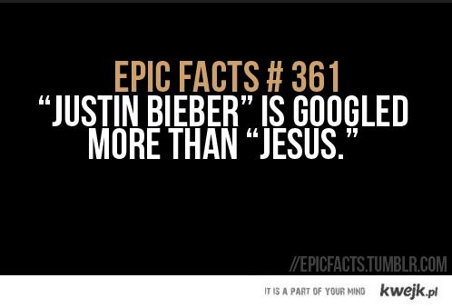 Justin Bieber jest sławniejszy od Jezusa...
