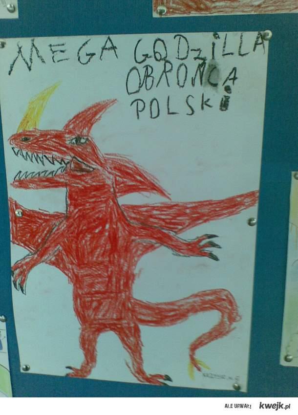 Mega Godzilla - obrońca Polski