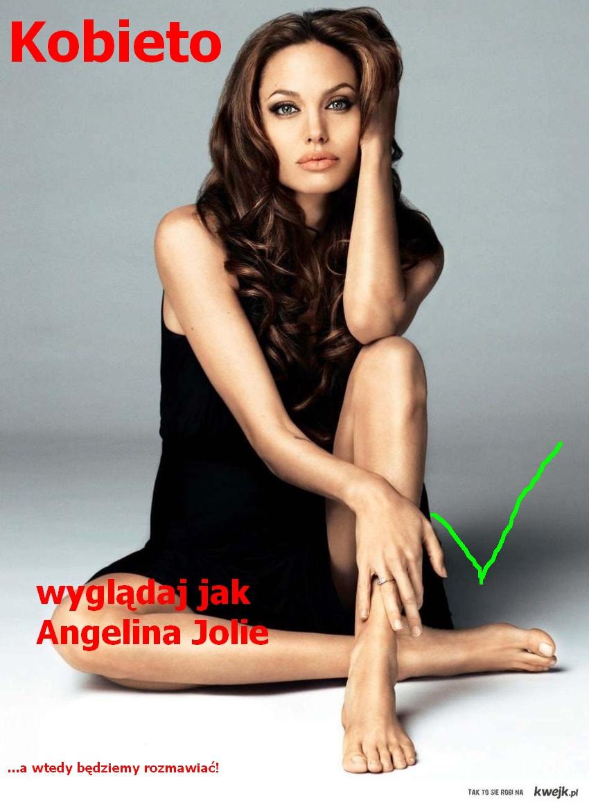 Kobieto, wyglądaj jak Angelina Jolie