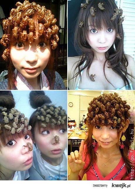 Nowe trendy - robaki we włosach