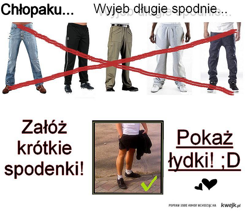 Wiosna, Lato = ŁYDKI! ;)))))))