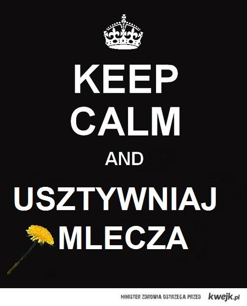 Keep Calm and USZTYWNIAJ MLECZA