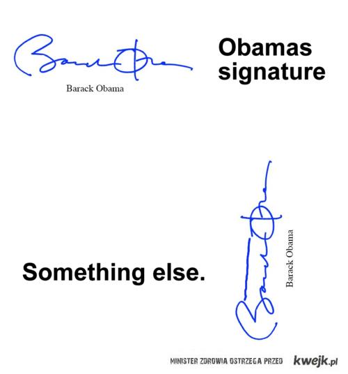 Autograf Obamy