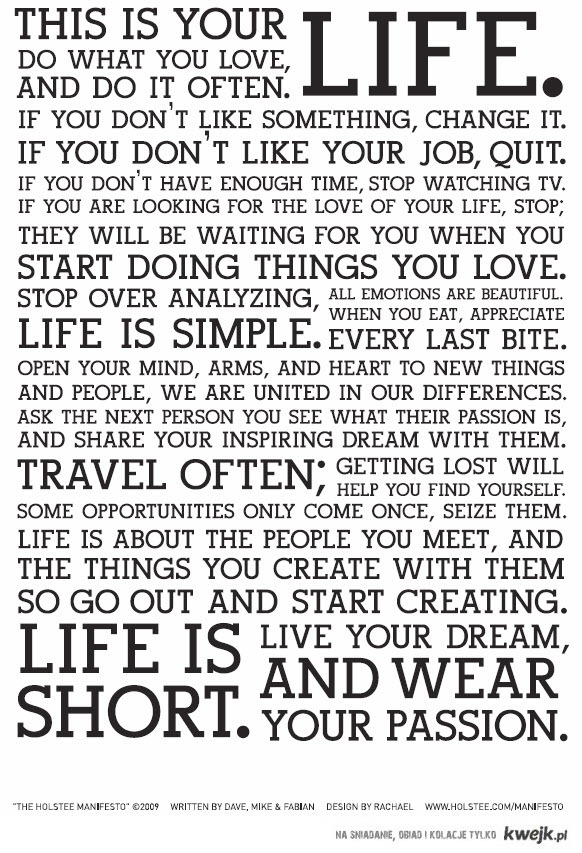 This is your life - Holstee-Manifesto