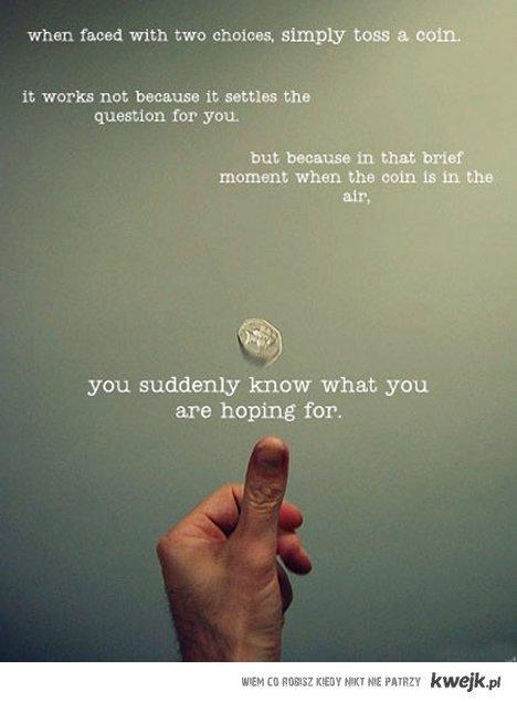 rzuć monetą