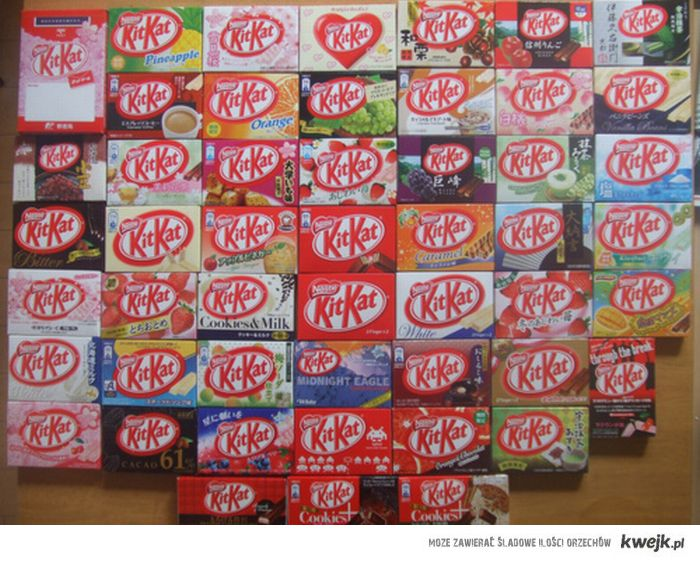 SO MANY KITKATS ;O