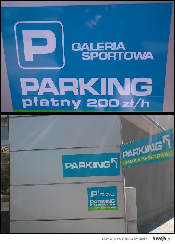 Ceny parkingu również idą w górę;)