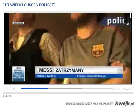 Messi zatrzymany!