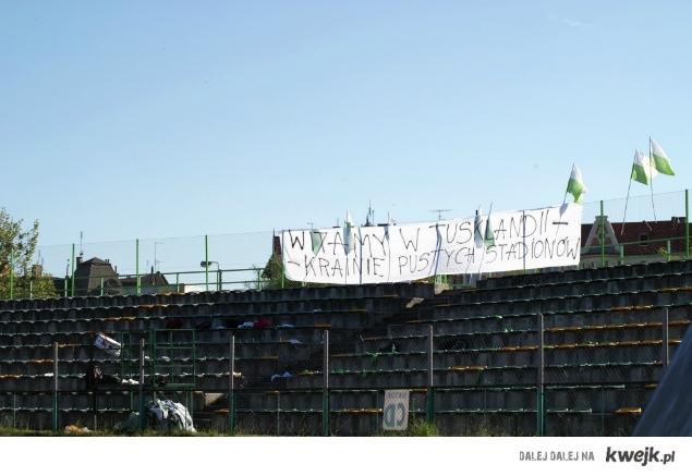 Kibice Grudziądza przeciw zmianom na stadionach