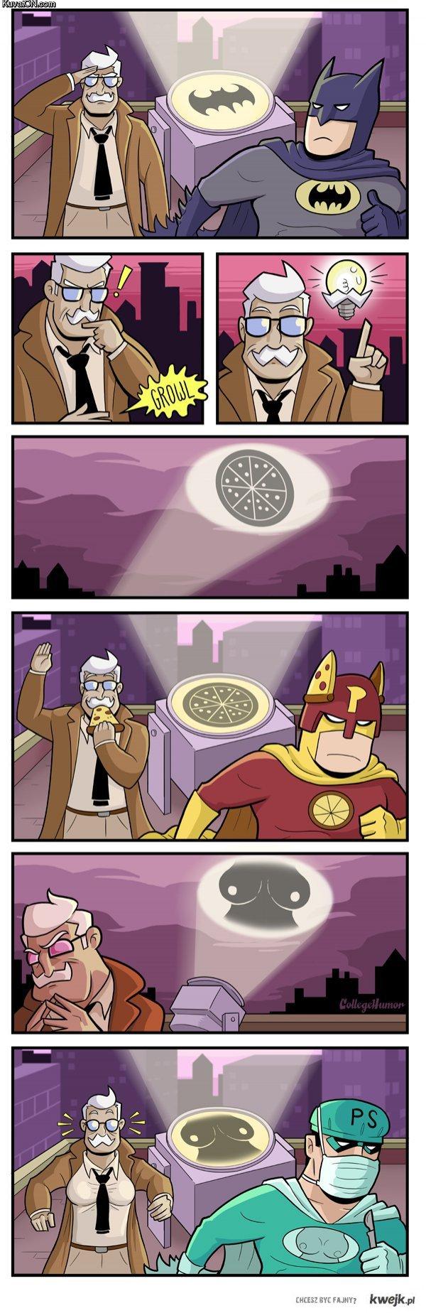Batman, Pizzaman i ...