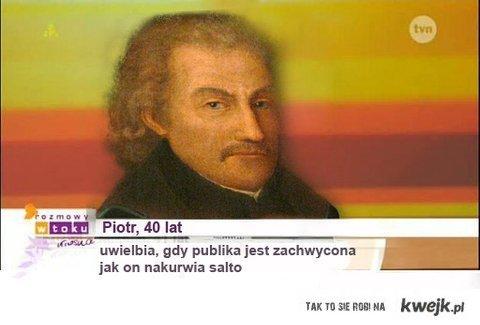 """Piotr Skarga w """"Rozmowach w toku""""..."""