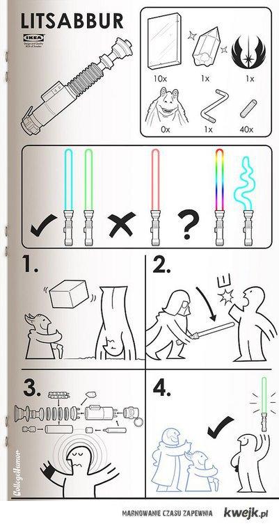 Jak złożyć miecz świetlny