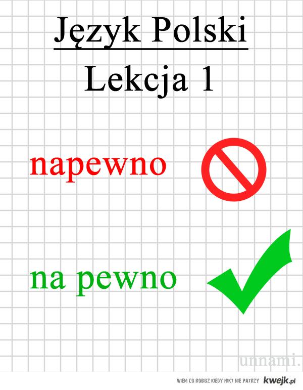 Język polski lekcja pierwsza